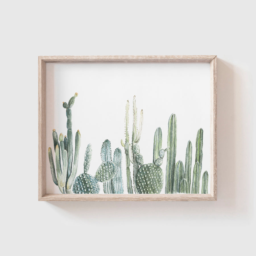 Cactus Row No. 1 Art Print