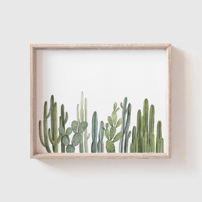 Cactus Row No. 2 Art Print