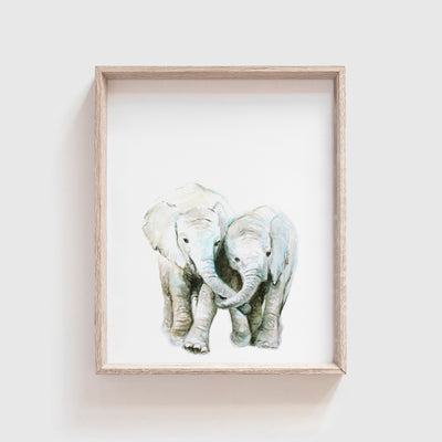 Elephants No. 1 Art Print