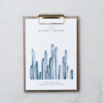 Desert Greens Desk Calendar (2020)