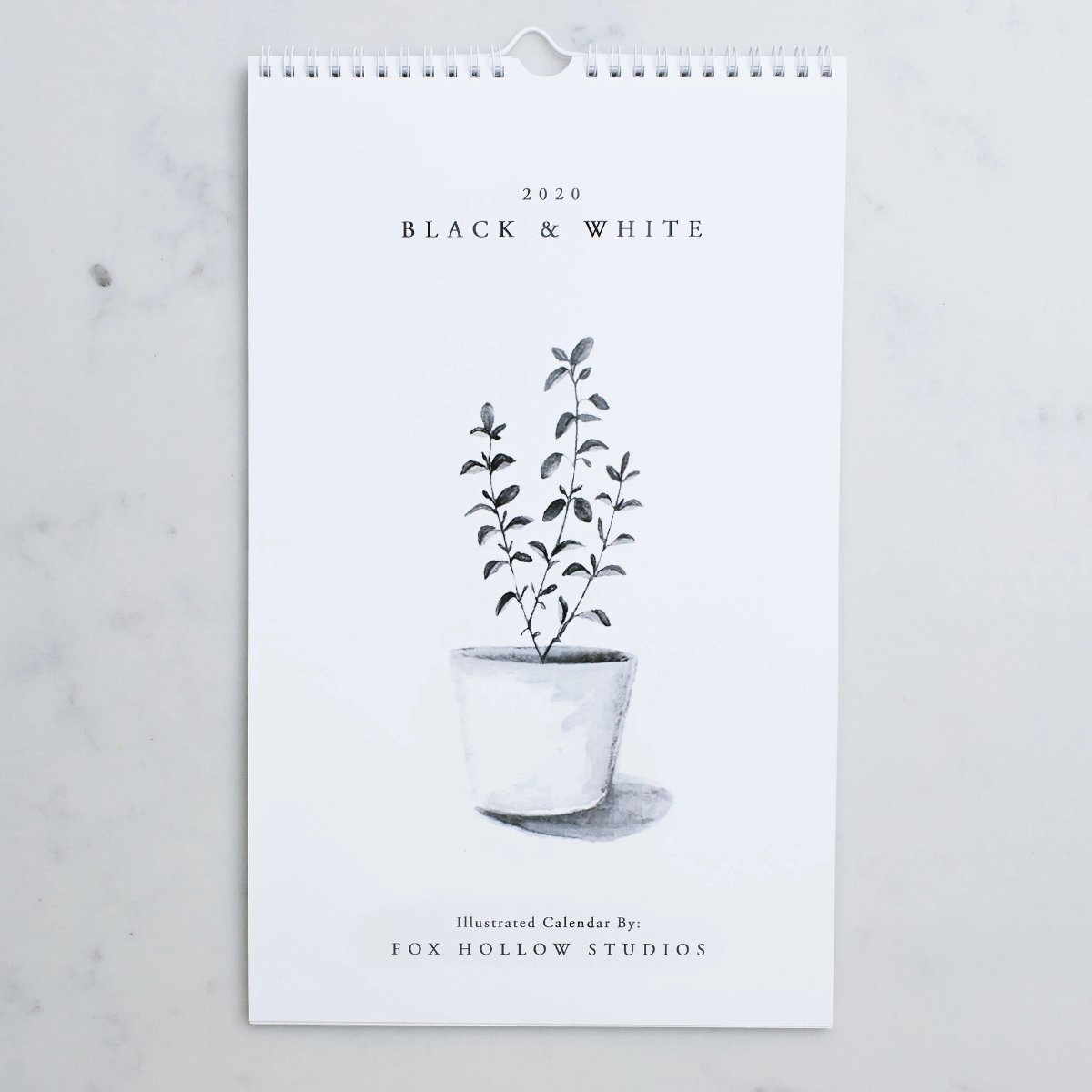Black & White Wall Calendar (2020)