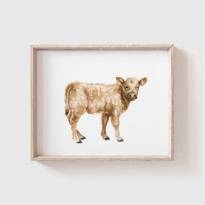Brown Cow Art Print