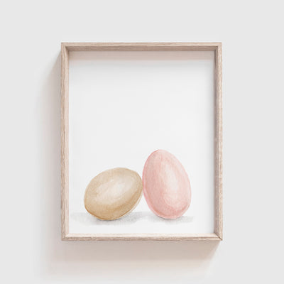 Egg Pair Art Print