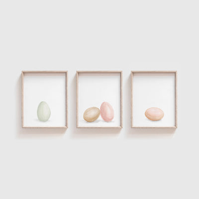 Egg Art Print Set