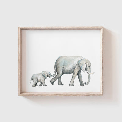 Elephants No. 2 Art Print