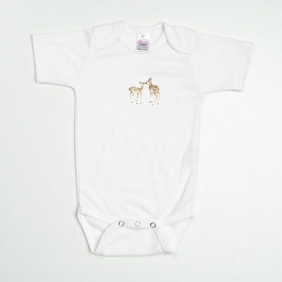 Kissing Deer Baby Bodysuit