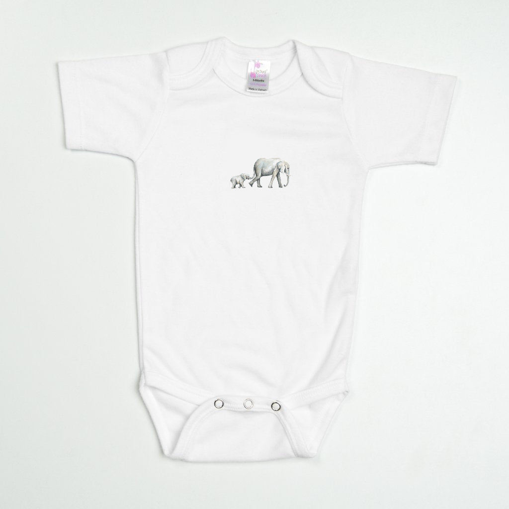 Elephants No. 2 Baby Bodysuit