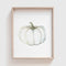 White Pumpkin Art Print