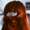 CLEAR QUARTZ HAIRCOMB