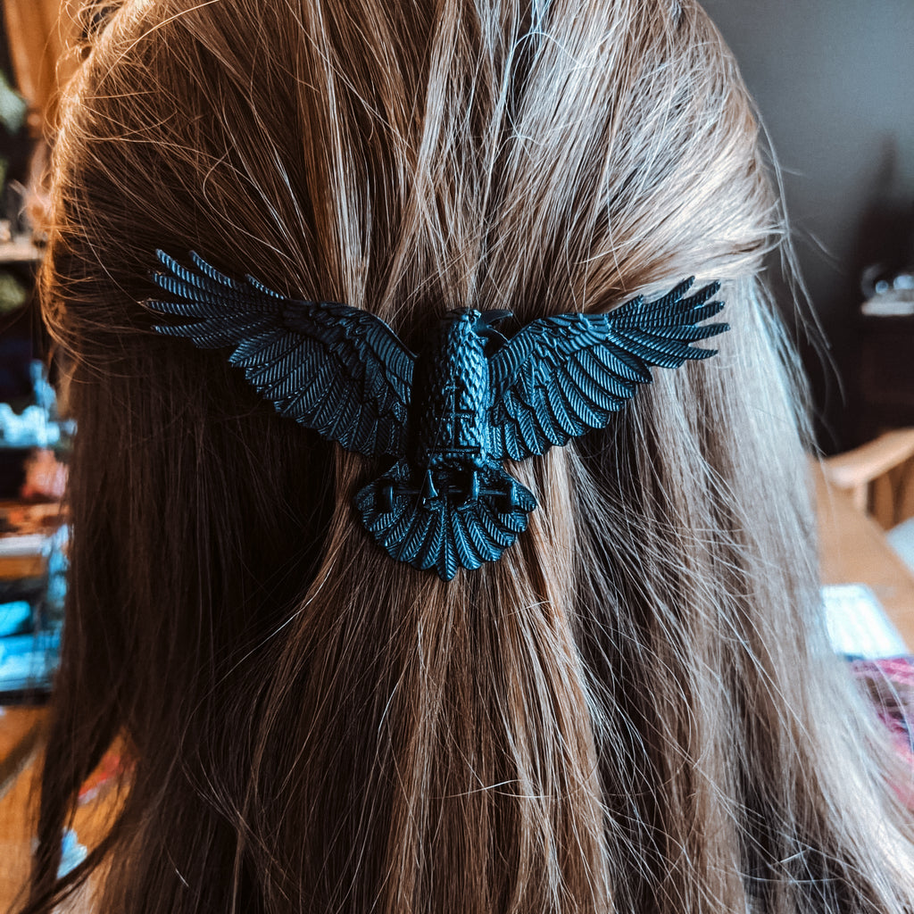 BLACK WINGS HAIRCLIP