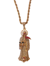 Load image into Gallery viewer, Rhinestone Santa Muerte pendant