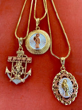 Load image into Gallery viewer, Anchor Santa Muerte necklace