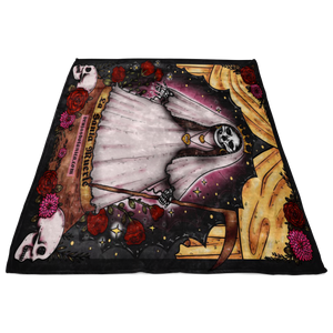 Santa Muerte Fleece throw