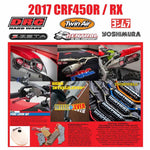 We have a range of items that fit the 2017-2018 CRF450R/RX as at 3 March 2017