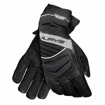 Rjays Tempest III gloves (for men and women) are made of 100% A-grade drum dyed leather and ballistic nylon construction and are 100% waterproof and breathable