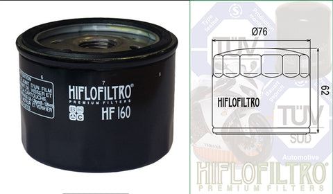 HF160  - also HF160RC - (Oil Filter)  - (Sample image)
