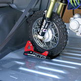 The DRC Moto Binding is an innovative style tyre chock and can be used for pit bikes through to full size dirt bikes (accepts 8 to 21 inch wheels)