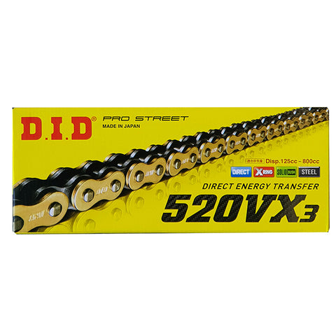 DID Chain 520/525/530 VX3 Steel