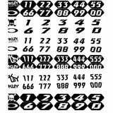 OA-01-774  Oakley Number Plate Wrap comes with a range of numbers and variations of black/white to customise your goggles