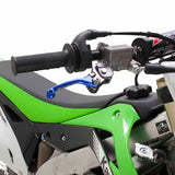 DF-ZE44-1102 - Blue Zeta Pivot Lever Set fits a range of bikes and is pictured here on a KXF