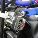 Zeta Handguard Side Type Mount can be used on motorcycles on which the top clamp fork bolts are fitted from the side DF-ZE71-1822