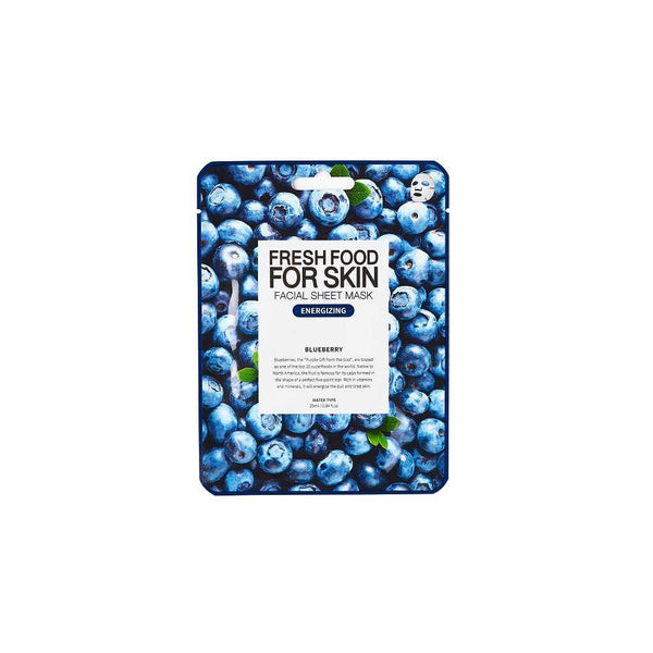 FARMSKIN FRESHFOOD Blueberry Facial Sheet Mask - Energizing-Simple-Farmskin-Chicsta