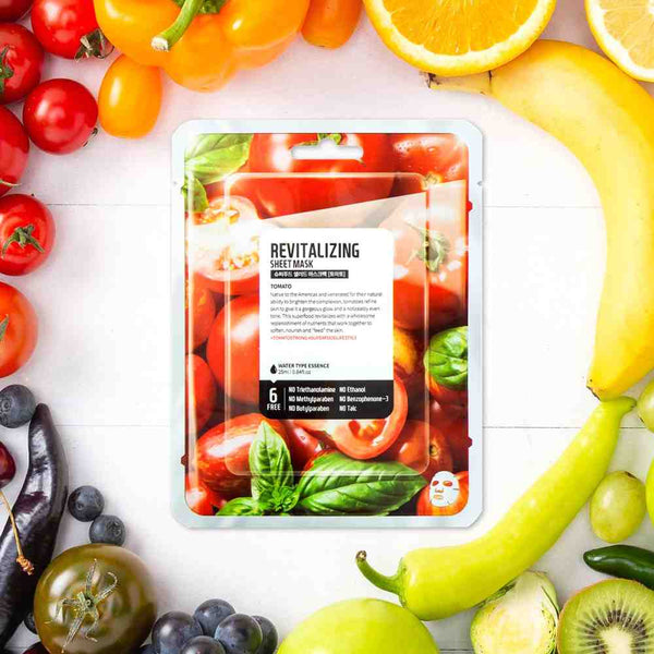 FARMSKIN REVITALIZING TOMATO FACE SHEET MASK