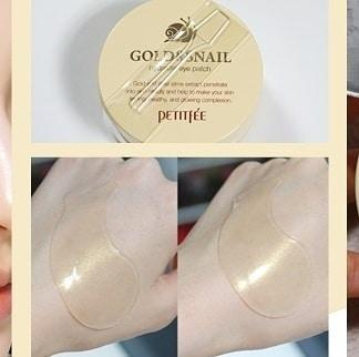 Gold & Snail Hydrogel Eye Patch-Simple-PETITFEE-Chicsta