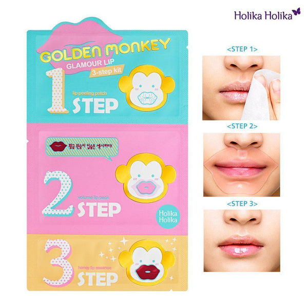 Golden Monkey Glamour Lip 3-step Kit-Simple-HOLIKA HOLIKA-Chicsta