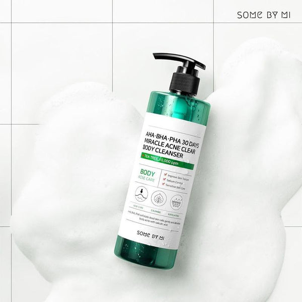 AHA BHA PHA 30 Days Miracle Acne Clear Body Cleanser-Simple-Some By Mi-Chicsta