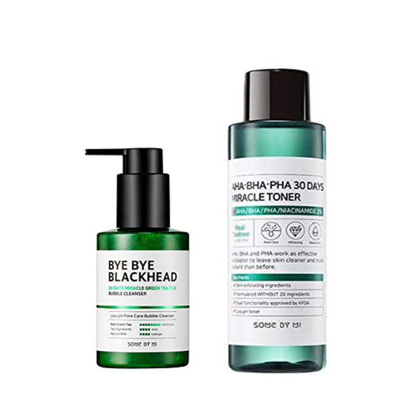 Bye Bye Blackhead Bubble Cleanser + Aha Bha Pha Miracle Toner-ZERO BLACKHEAD KIT-Chicsta