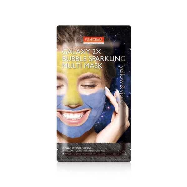 Galaxy 2X Bubble Sparkling Multi Mask- Yellow & Violet-Purederm-Chicsta