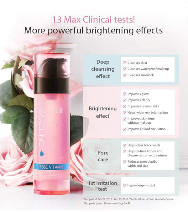 Maxclinic Rose Vitamin Brightening Oil Foam