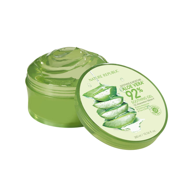 Soothing & Moisture Aloe Vera 92% Soothing Gel (Big)-Simple-NATURE REPUBLIC-Chicsta