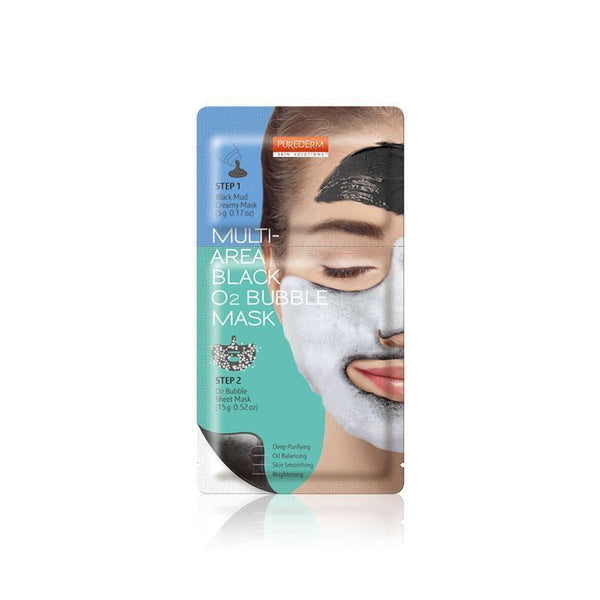 Multi-Area Black O2 Bubble Mask
