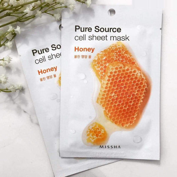 Pure Source Cell Sheet Mask (Honey)-Simple-Missha-Chicsta