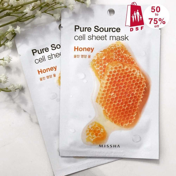 6 Pcs Set Of Pure Source Cell Sheet Mask (Honey)-Simple-Missha-Chicsta