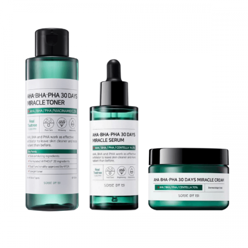 Miracle Pure Set #Toner + Serum + Cream-Some By Mi-Chicsta