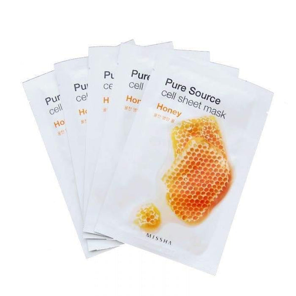 6 Pcs Set Of Pure Source Cell Sheet Mask (Honey)