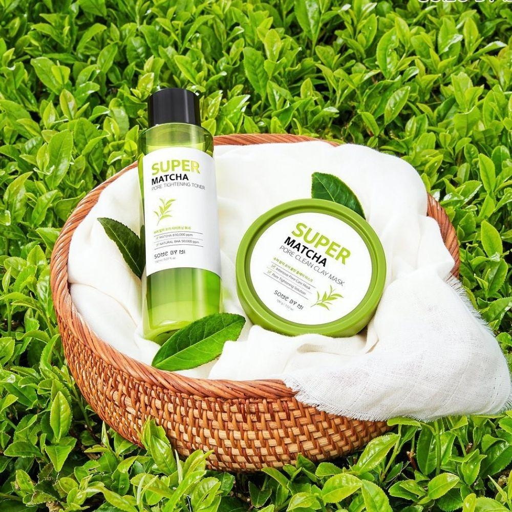 Some By Mi 10 in 1 Pore Care Kit- Super Matcha Toner+Matcha Clay Mask,  Korean Skincare | Chicsta