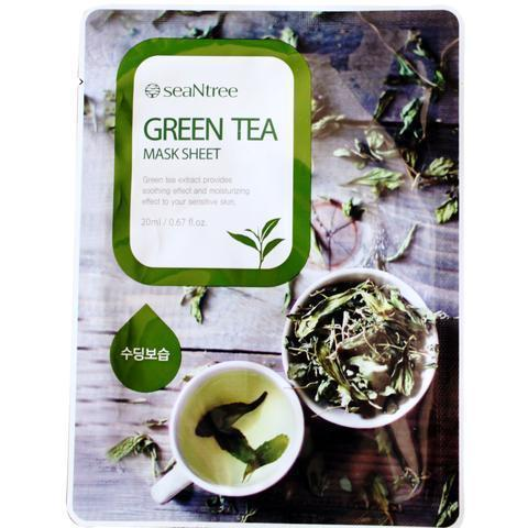 Green Tea Mask Sheet-Seantree-Chicsta