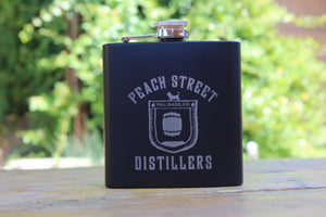 Flask w/ PSD barrel logo