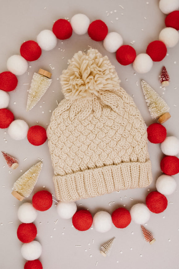 Bella Knit Beanie in Cream