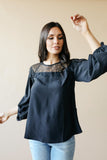 Straight Laced Blouse In Black