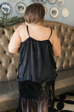 Sure Of Yourself Sheen Camisole in Black