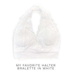 My Favorite Halter Bralette in White