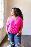 Split The Check Top In Fuchsia
