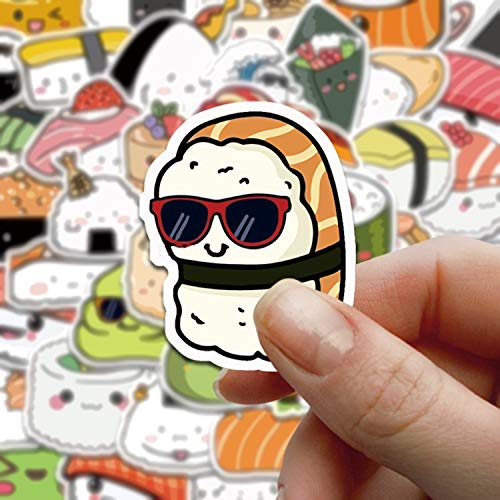 48 Sushi Roll Rice Stickers