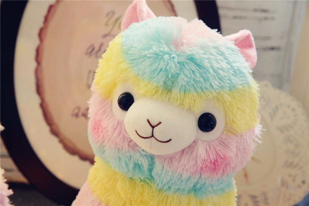 Rainbow-Party-Alpaca-Llama-Plush