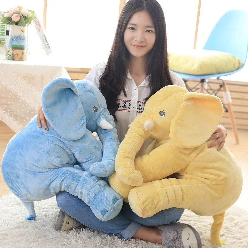 kawaii-cute-light-blue-yellow-elephant-plush-children-Asian-woman